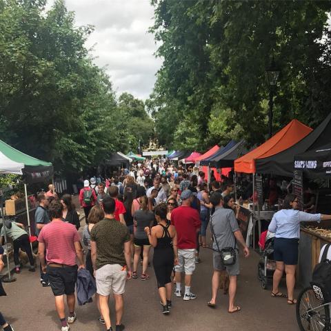Victoria Park Market in full swing